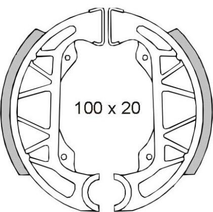 Saboti frana Piaggio Free-Sfera Rst 50cc/RMS 0360