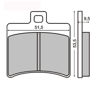 Placute frana Aprilia Scarabeo 125-Leonardo 150/RMS 0310