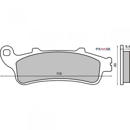 Placute frana Honda Pantheon 125cc-Foresight 250cc/RMS 0340