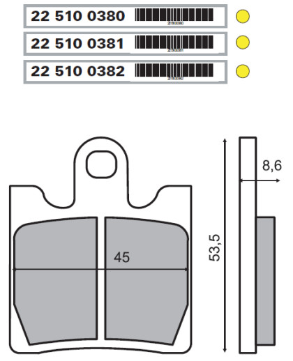 Placute frana fata Suzuki Burgman 250cc/RMS 0380