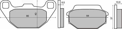 Placute frana fata Kymco 50-125-150cc/RMS 2710