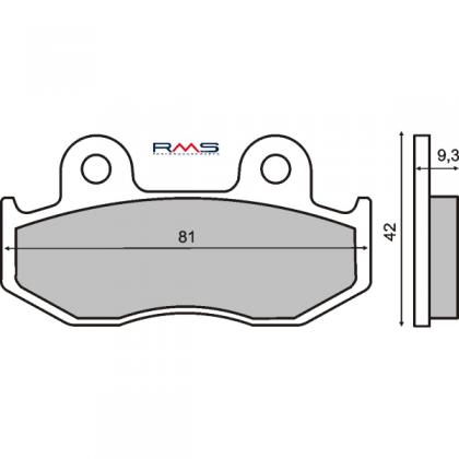 Placute frana Honda SH 125-150 '00-'05/RMS 0270