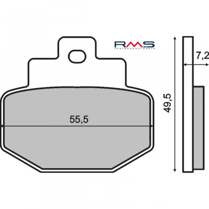 Placute frana spate Piaggio Super Hexagon 125cc/RMS 0450