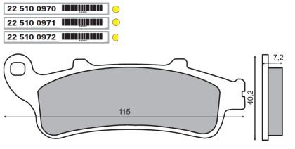Placute frana fata Honda st 1100 pan european 1997>/RMS 0970