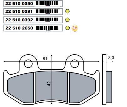 Placute frana spate Suzuki Burgman 250cc/RMS 2650