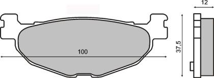 Placute frana spate Yamaha Majesty 400cc-t max 500cc/RMS 0800