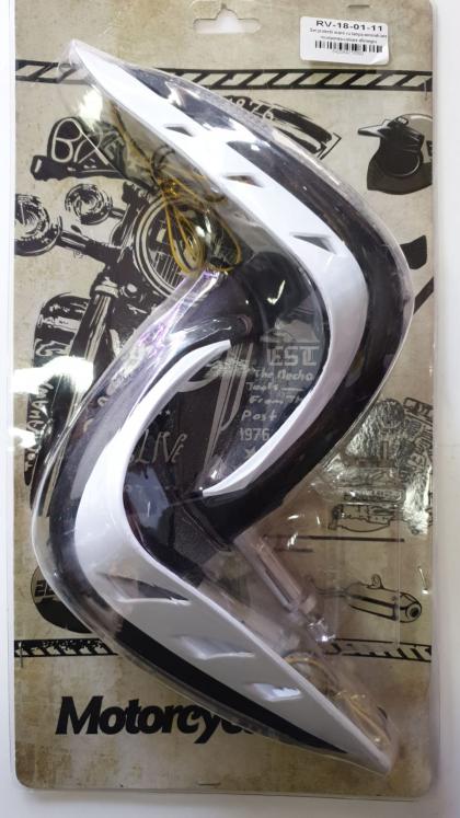 Set protectii maini cu lampa semnalizare incorporata-culoare alb/negru