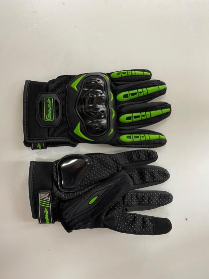 Set manusi moto negru+verde XL
