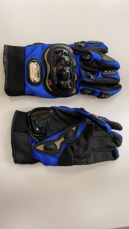 Set manusi moto negru+albastru XL